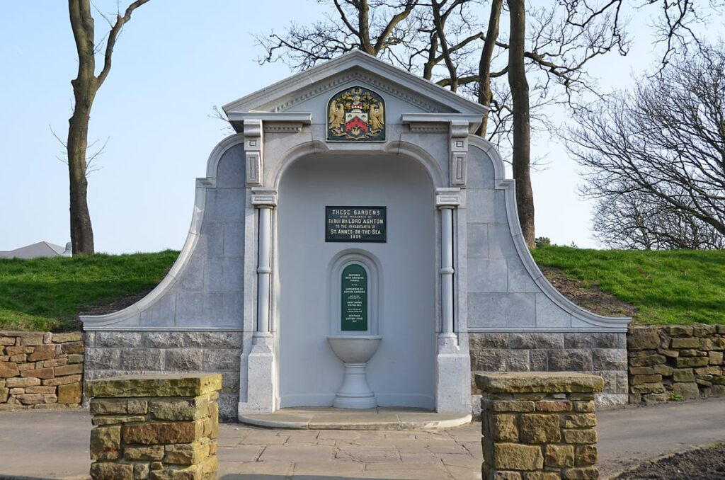 Lord Ashton Monument in Ashton Gardens St Annes