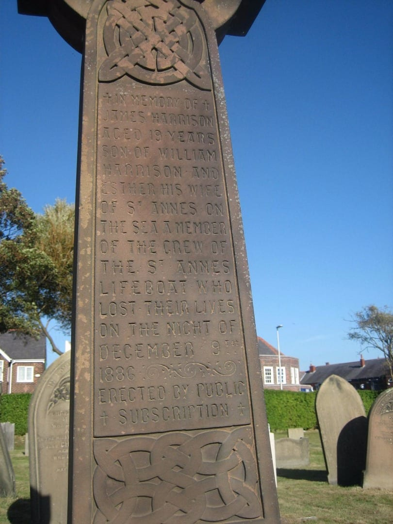 Grave of James Harrison from the Mexico Lifeboat Disaster in Layton Cemetery. Photo: Denys Barber