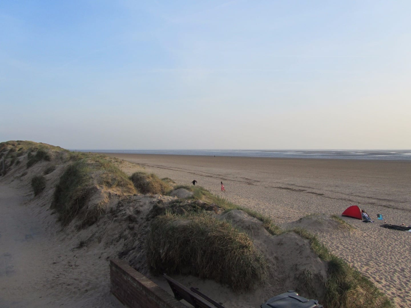 St Annes sand dunes and seafront