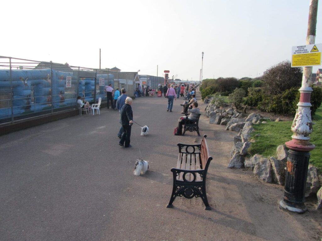 The rockery between the beach and Gardens at St Annes seafront