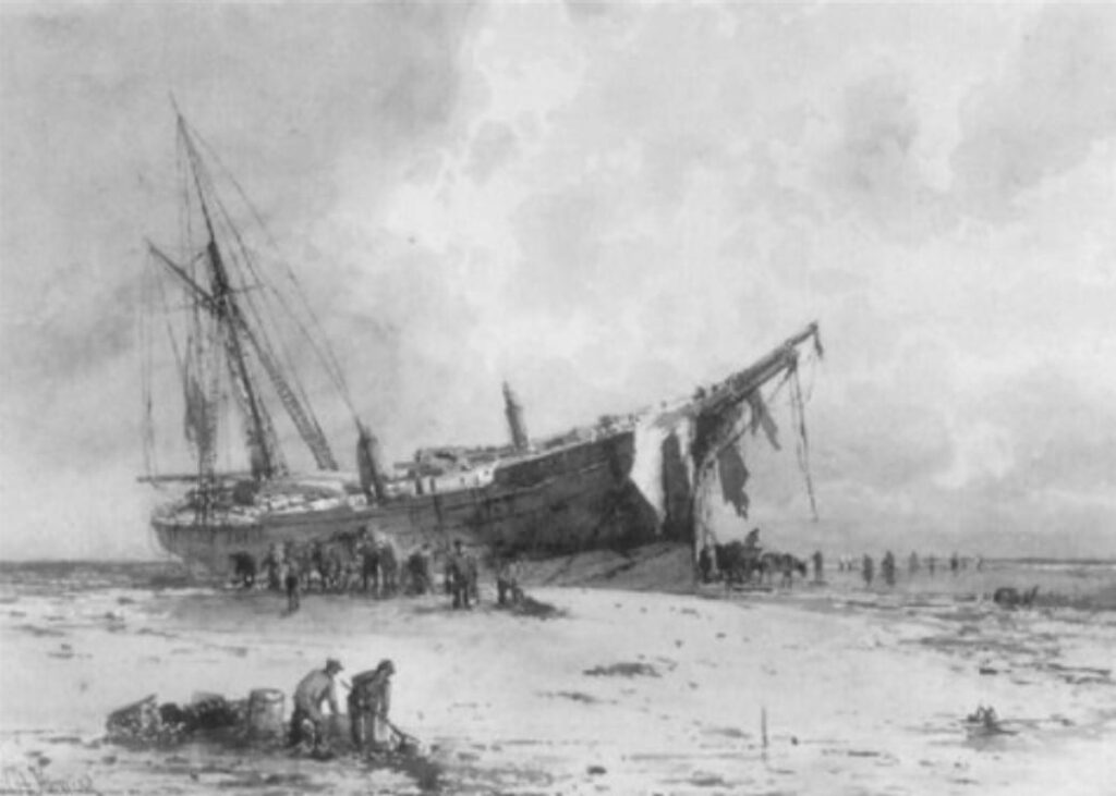 Wreck of the Mexico, painted by Emil Axel Krause