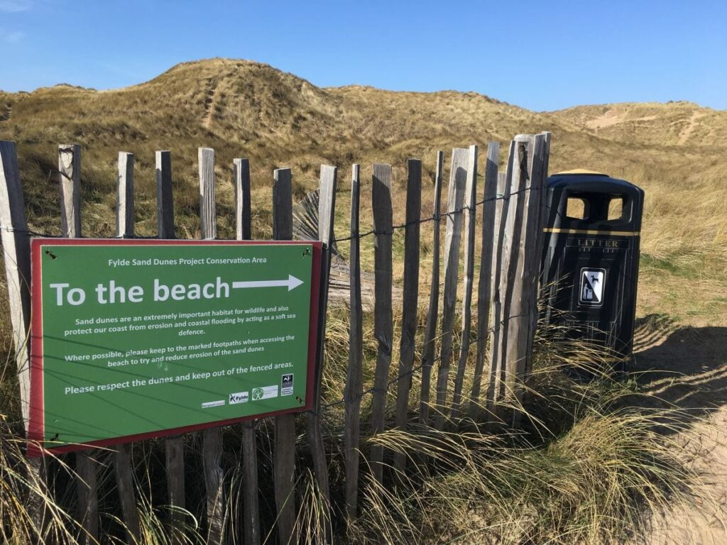 Please look after St Annes Sand Dunes