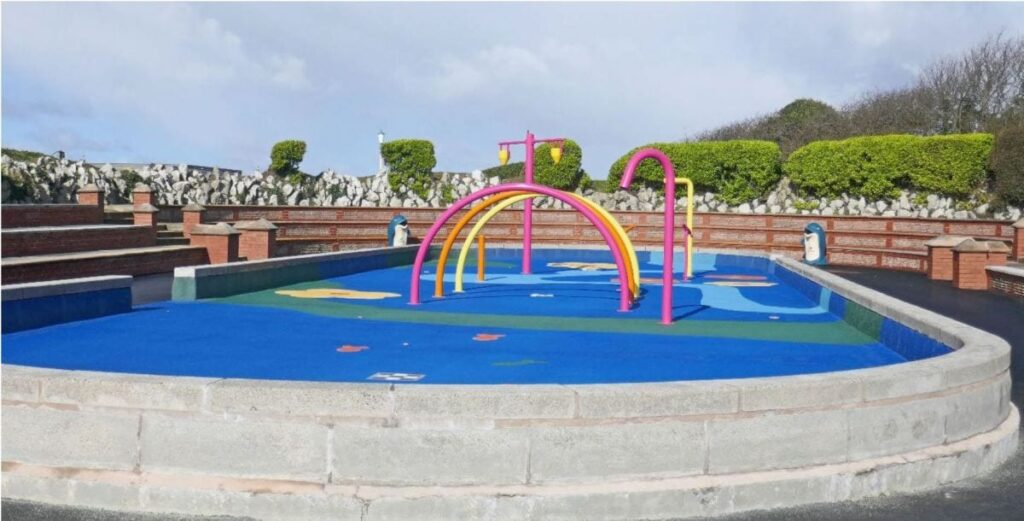 The new Splash Park at St Annes seafront