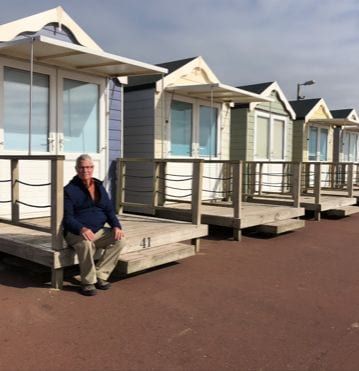 St Annes Beach Huts by Diane Runnells who now lives in Indiana