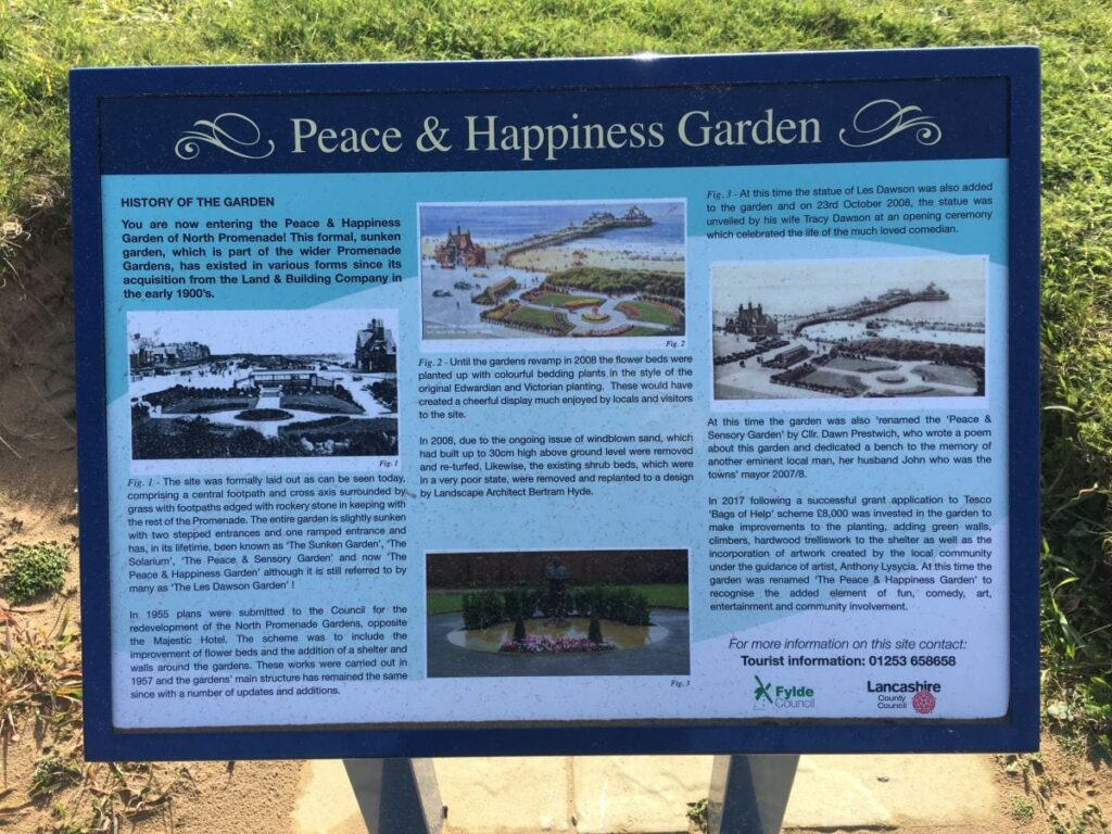 Learn about the Peace and Happiness Garden with the information signs