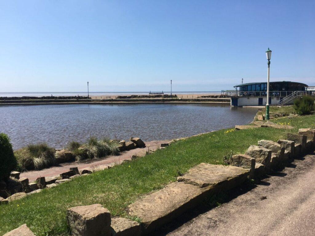 St Annes seafront and beach beyond