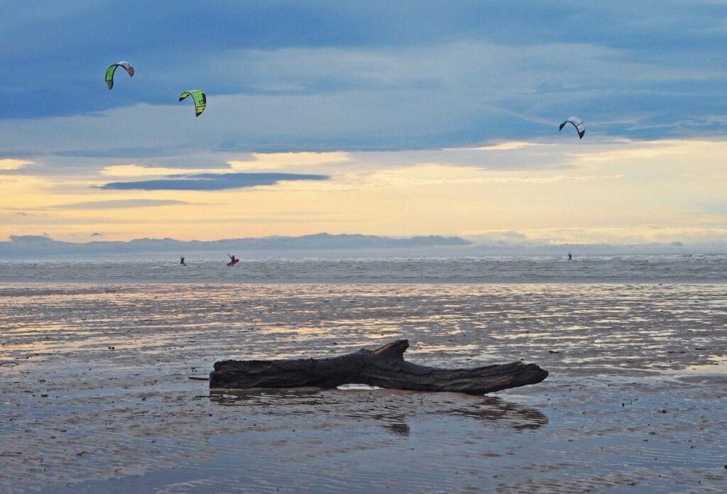 Kiteboarders on St Annes Beach