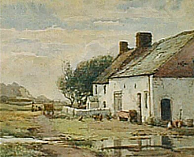 Gillets 'Cross Slack' Farm by Walter Eastwood. Lytham St Annes Art Collection