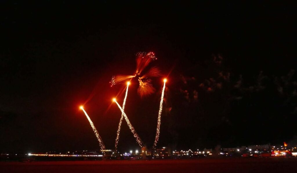 Fireworks at St Annes Kite Festival Night Flight. Photo: Sue Massey